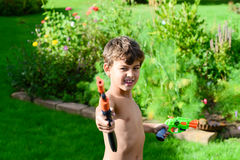 Fun in garden in summer Stock Photo