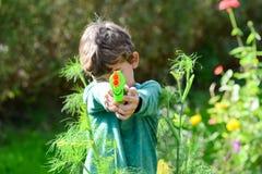 Fun in garden in summer Stock Photography
