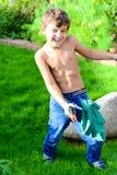Fun in garden in summer Royalty Free Stock Photo
