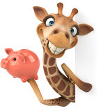 Fun giraffe Royalty Free Stock Photo