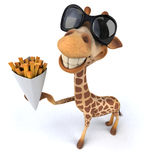Fun giraffe Stock Photography