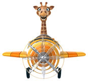 Fun giraffe royalty free illustration