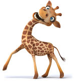 Fun giraffe. 3D generated illustration royalty free illustration