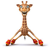Fun giraffe Stock Image