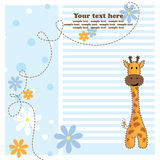 Fun giraffe, greeting card, vector Royalty Free Stock Images