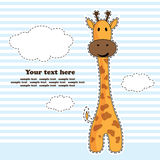 Fun giraffe, greeting card, vector Stock Images