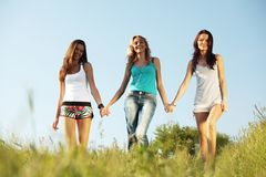 Fun girlfriends Royalty Free Stock Images