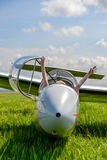 Fun in glider plane, hands up in the air Stock Images