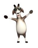 Fun Goat cartoon character with sunglass Stock Image