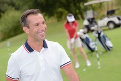 The fun in golf. Golf Royalty Free Stock Image