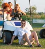 Fun in golf club Royalty Free Stock Photography
