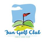 Fun Golf course landscape Icon. In  format Stock Image