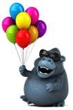 Fun gorilla - 3D Illustration vector illustration