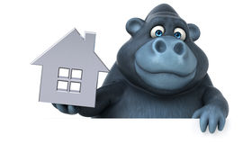 Fun gorilla - 3D Illustration Royalty Free Stock Photography