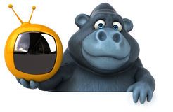 Fun gorilla - 3D Illustration Royalty Free Stock Photo