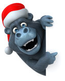 Fun gorilla - 3D Illustration Royalty Free Stock Image
