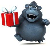 Fun gorilla - 3D Illustration Stock Photography