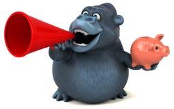 Fun gorilla - 3D Illustration Royalty Free Stock Photo