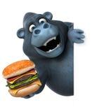 Fun gorilla - 3D Illustration Stock Image