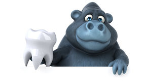 Fun gorilla - 3D Illustration Royalty Free Stock Image