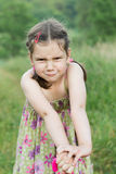 Fun grimacing little girl Royalty Free Stock Image