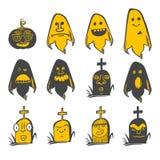 Fun Halloween avatars set Stock Photography