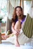 Fun in hammock Stock Images