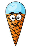 Fun happy cartoon ice cream cone Stock Images