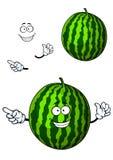 Fun happy cartoon watermelon character Stock Image