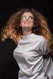 Fun happy crasy woman Stock Image