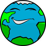 A Fun Happy Earth Smiling Royalty Free Stock Photo