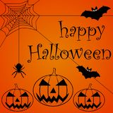 Happy Halloween Text Banner royalty free illustration