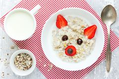 Fun and healthy breakfast idea for kids Stock Photography