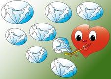Fun heart Royalty Free Stock Photos