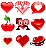 Fun Heart designs Royalty Free Stock Image