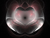 Fun with Heart II. Generated with fractals Royalty Free Stock Photos