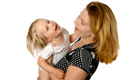 fun with her mommy Stock Photo