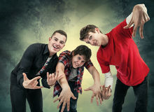 fun hip hop poses Royalty Free Stock Photo