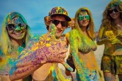 Fun at holi party Royalty Free Stock Photo