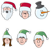 Fun Holiday Characters Stock Photography