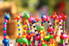 Fun homemade giraffe figurines at the fair Stock Photos