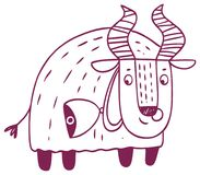 Fun horoscope - Taurus zodiac sign stock image