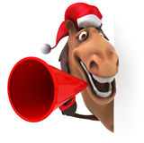 Fun horse vector illustration