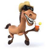Fun horse Stock Photography