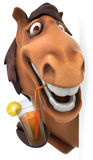 Fun horse. Fun 3D horse, 3d generated picture Stock Image