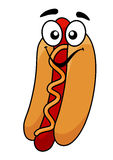 Fun hot dog and mustard Royalty Free Stock Images