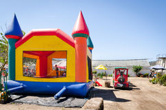 Fun house with train rain Royalty Free Stock Photography