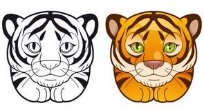 Fun illustration, cute tiger Royalty Free Stock Photos
