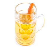 Thirsty prawn with a taste for beer Royalty Free Stock Image