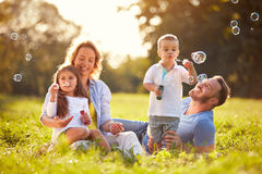 Free Fun In Nature With Soap Bubbles Stock Photography - 89801952